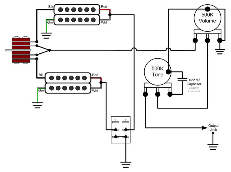 wiring diagram 2 single coil with Pickup Wiring Diagram For Prs Se Custom 24 Also on Fender Vintage Noiseless Wiring Diagram additionally Subwoofer Wiring Diagrams further Humbucker 4 Wire Wiring Diagram as well Wiring Diagram For Dpdt Toggle Switch likewise Hydraulics 101.