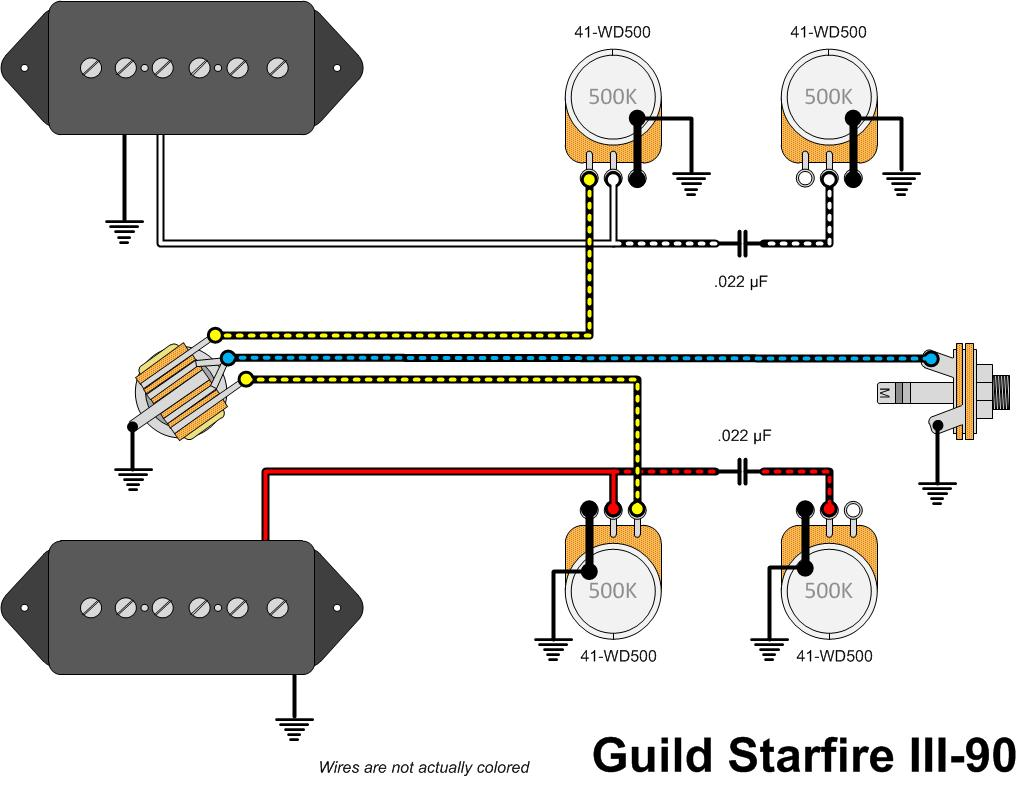 Guild Guitar Wiring Diagram Explained Issues Starfire Iii 90 Gads Ramblings Coil Tap Diagrams