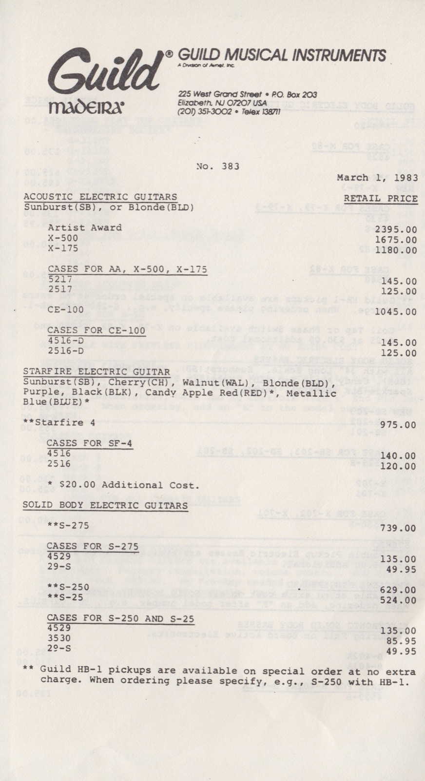 guild guitar price list 1983 march gad 39 s ramblings. Black Bedroom Furniture Sets. Home Design Ideas