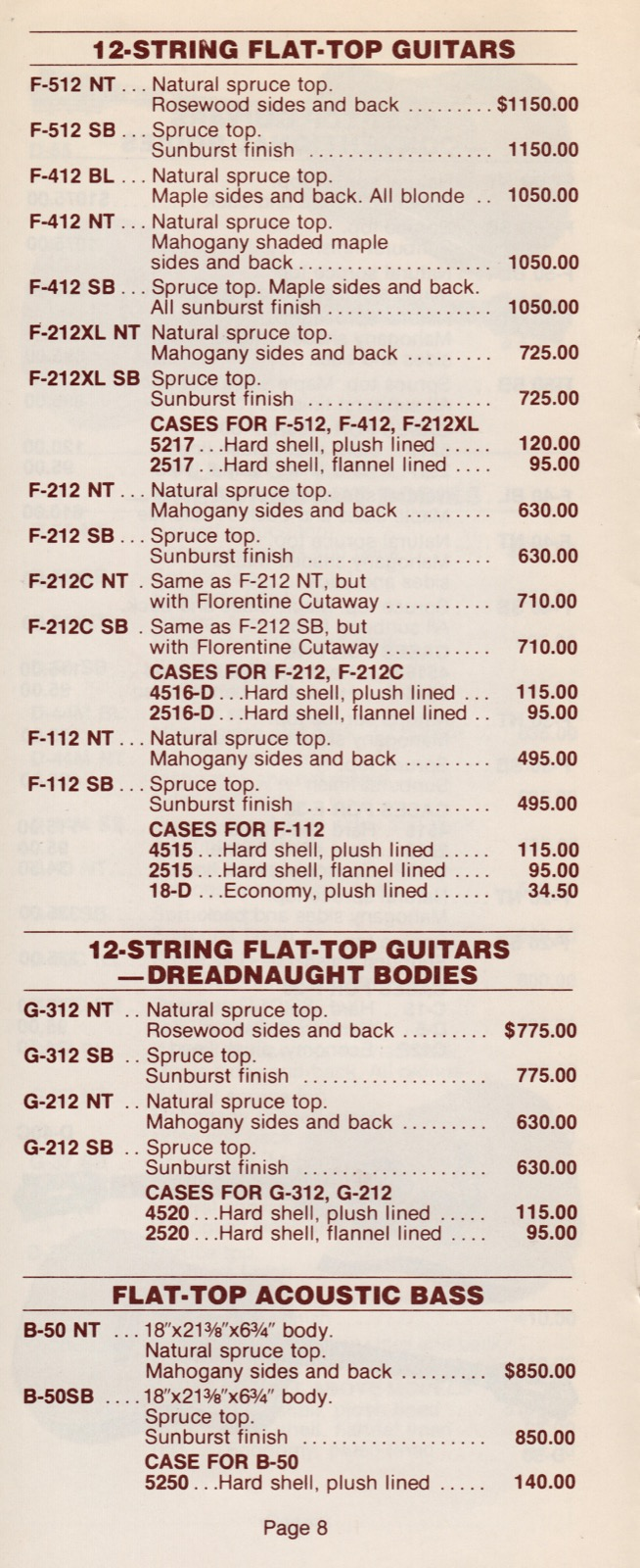 guild guitar price list 1979 january gad 39 s ramblings. Black Bedroom Furniture Sets. Home Design Ideas
