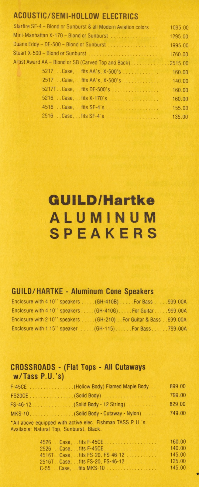 guild guitar price list 1986 may gad 39 s ramblings. Black Bedroom Furniture Sets. Home Design Ideas