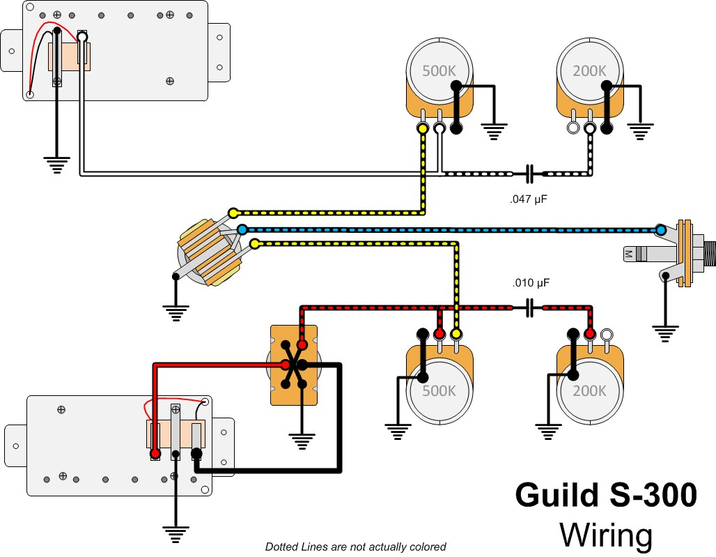 Guitar Hero Wiring Diagram : Guild guitar schematics wiring diagrams best site