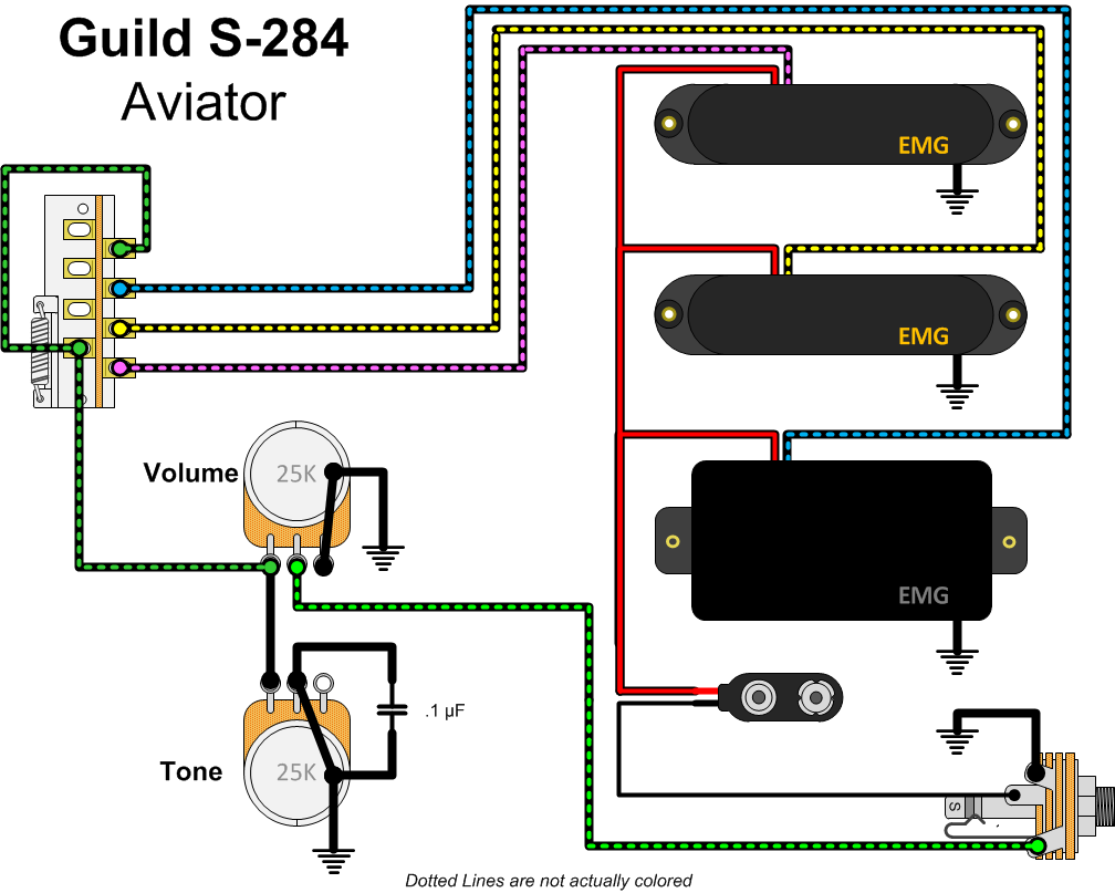 Guild S284 Aviator Wiring guild s284 aviator with emgs gad's ramblings EMG Schematics at nearapp.co