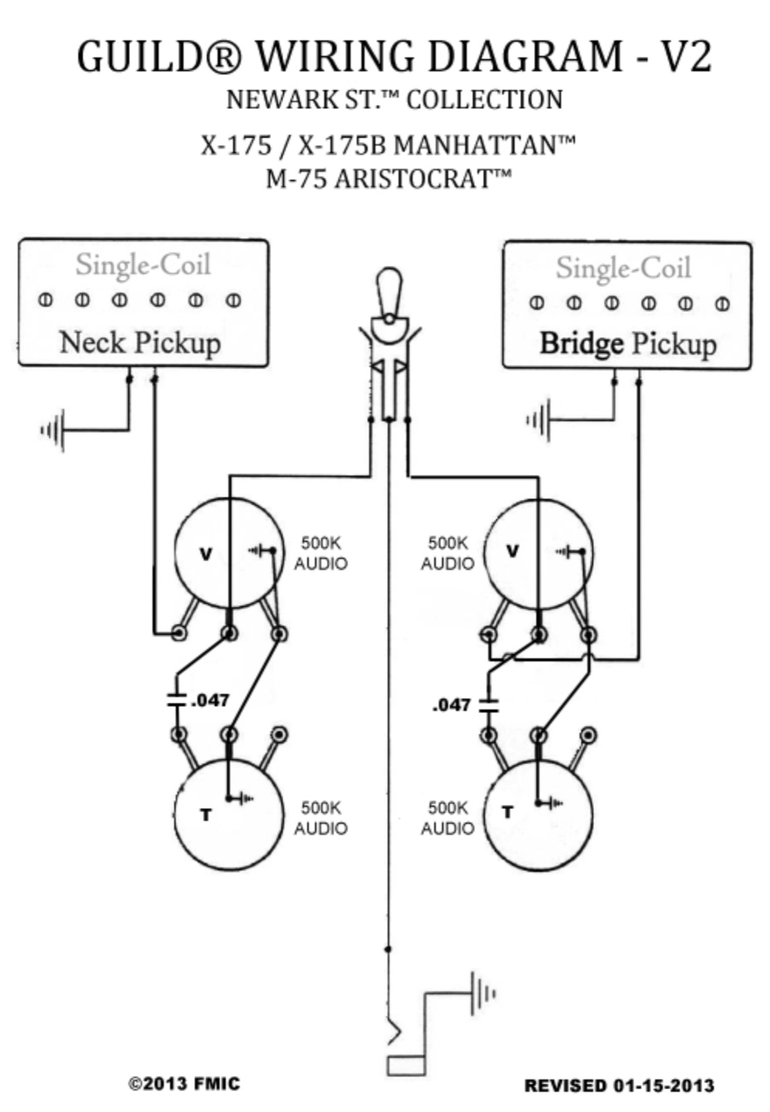 Help With Ns M 75 Volume And Tone Pots Archive Letstalkguild Single Coil Pickup Wiring Diagram