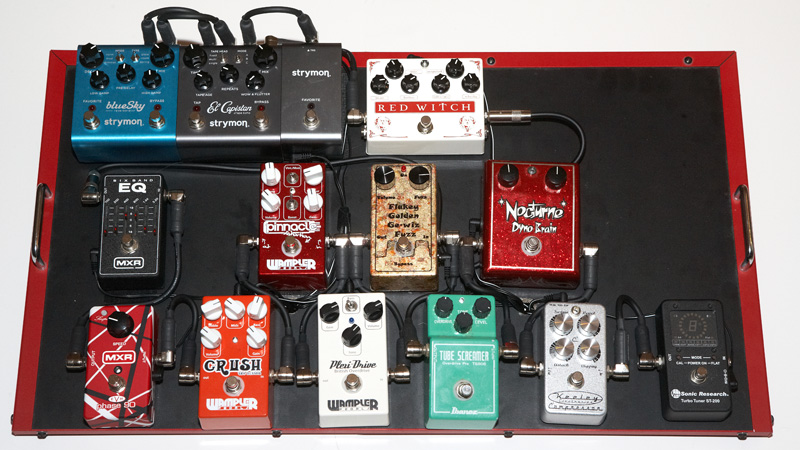 my ugly new pedal board the gear page. Black Bedroom Furniture Sets. Home Design Ideas